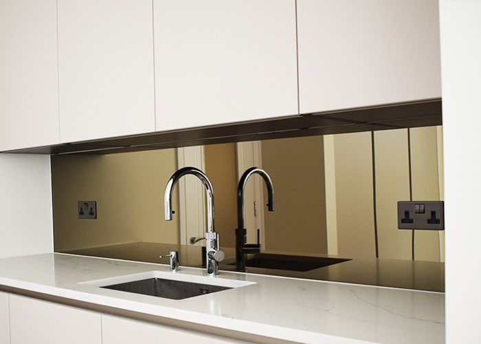 Bronze Toned Toughened Mirror