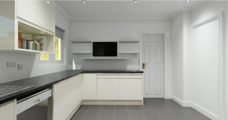 3D Kitchen Visualisations Plan Example