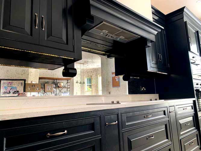 Antique Mirrored Splashback