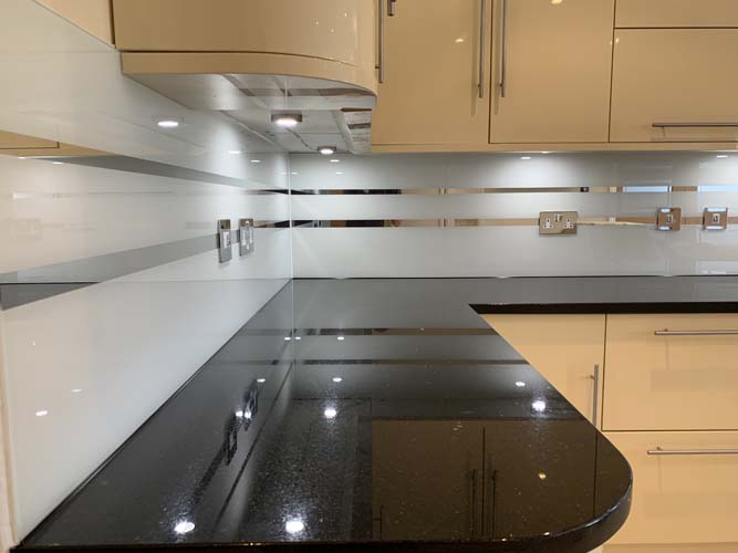 Grey Striped Mirror Splashback (Project 3)