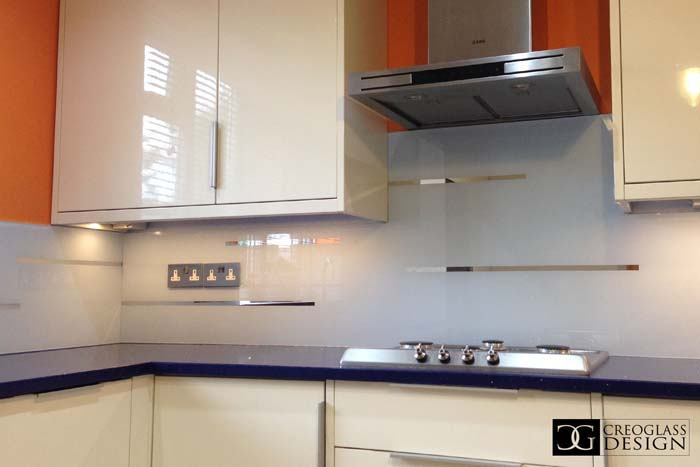 Grey Striped Mirror Splashback (Project 5)