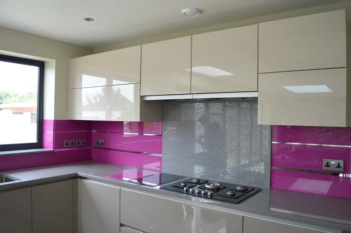 Magnolia Striped Mirror Splashback