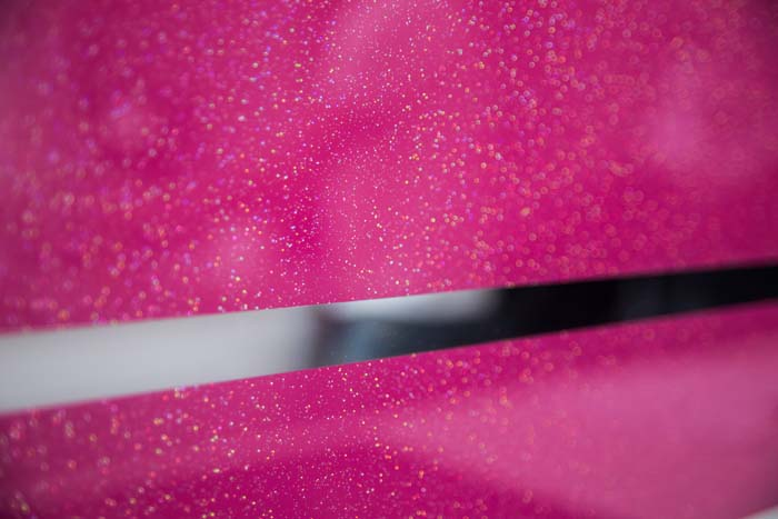 Pink Striped Mirror Splashback
