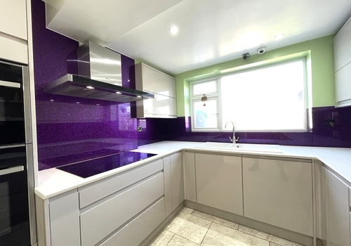Purple Haze Luxury Splashback