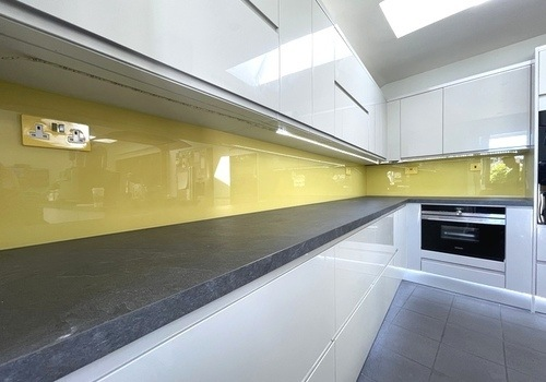 Yellow Glass Splashback