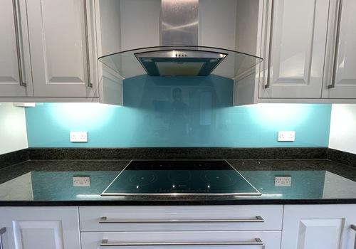 Blue Fine Sparkle Kitchen Splashback